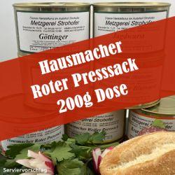 Hausmacher Roter Presssack in der 200 g Dose
