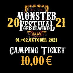 Monster Festival 01.+02.10.2021 - Camping Ticket