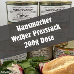 Hausmacher Weißer Presssack in der 200 g Dose
