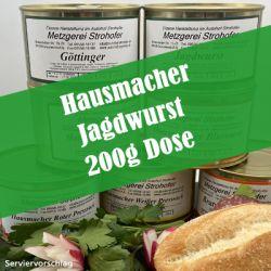 Hausmacher Jagdwurst in der 200g Dose