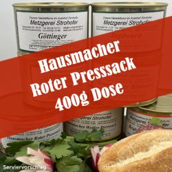 Hausmacher Roter Presssack in der 400 g Dose